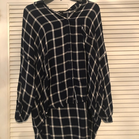 Forever 21 Tops - High-low flannel